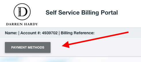 DH Billing Portal Payment Method Button